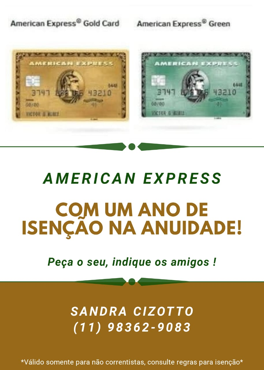 cartoes amex